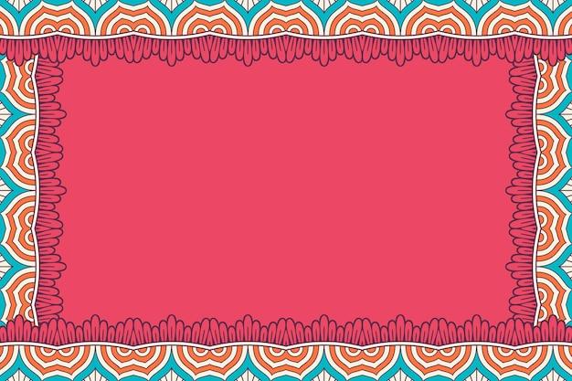 Орнамент красивый фон геометрическая цветочная рамка