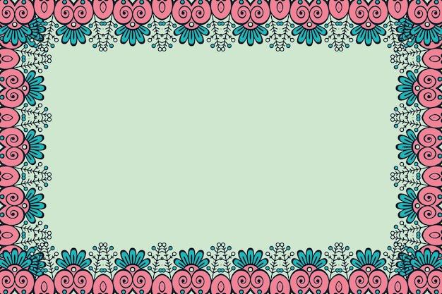 장식 아름다운 배경 기하학적 꽃 프레임