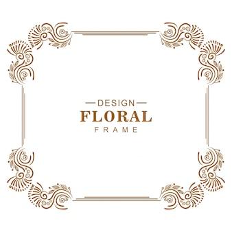 飾り装飾的な創造的な花のフレームデザイン