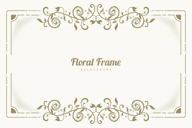 Ornament floral frame background