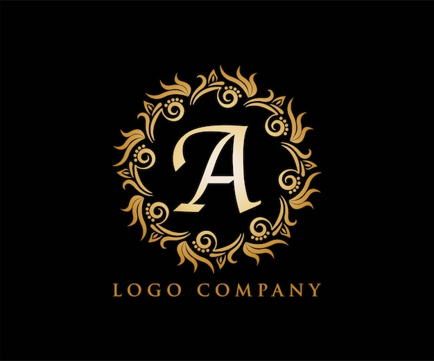 Ornament gold for yoga logo