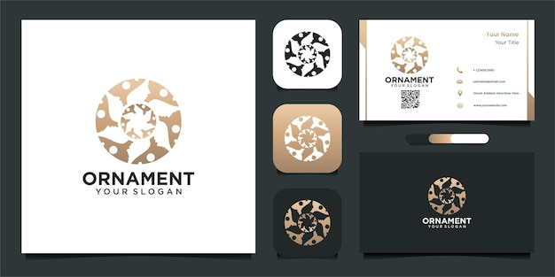 Ornament logo design in abstract style