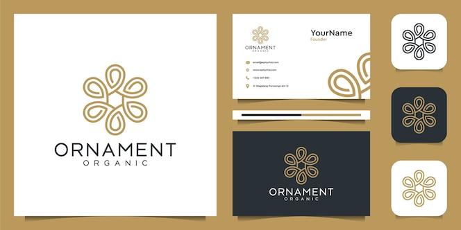 Ornamento logo design e biglietto da visita