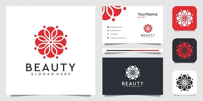 Design del logo ornamento in stile organico. vestito per decorazione, spa, bellezza, yoga, fiore, foglia, marchio e biglietto da visita