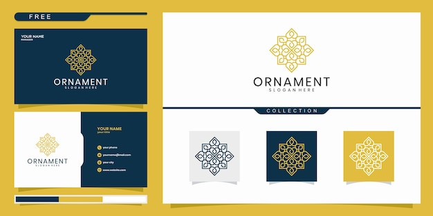 Ornament logo design, with line concept. logo design and business card