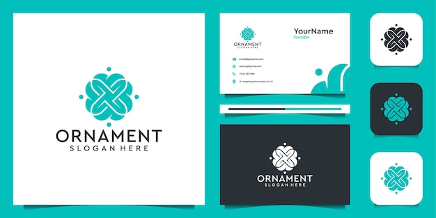 Ornament logo illustration vector graphic design. good for decoration, brand, icon, spa, and business card
