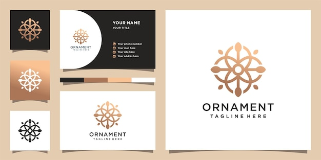 Ornament logo template with creative concept. logo and business card design.