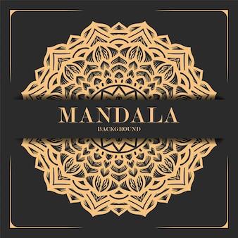 飾り豪華な曼荼羅の背景