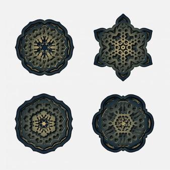 Ornament mandala background, laser cutting decoration