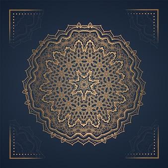 Ornament mandala background for wedding invitation