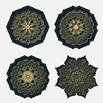 Ornament mandala design, laser cutting decoration