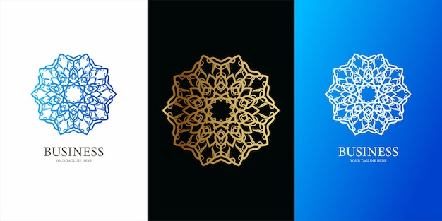 装飾または曼荼羅のロゴのテンプレートデザイン。耳鼻咽喉科のロゴテンプレートデザイン