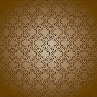 Орнамент на коричневом фоне векторных иллюстраций