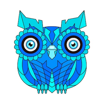 Ornament owl vector. beautiful illustration owl for design, print clothing, stickers, tattoos