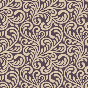 Ornament seamless floral pattern. stylish abstract vector illustration.