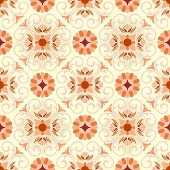 タイルモザイクの壁紙の背景の飾りのシームレスなパターン。