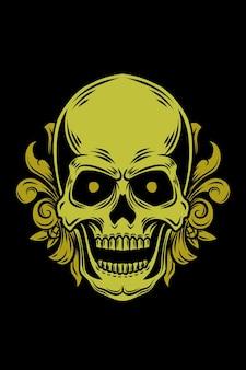 Ornament skull vector illustration