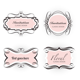 Ornament swirl banner set