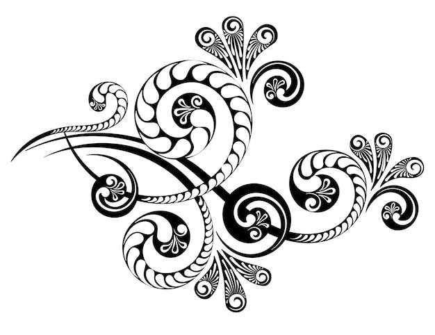 Орнамент с красивым сложным узором для оформления приглашений, писем и открыток