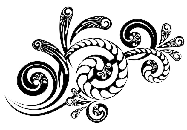 Ornament with a beautiful complex pattern for the design of invitations, letters and greeting cards