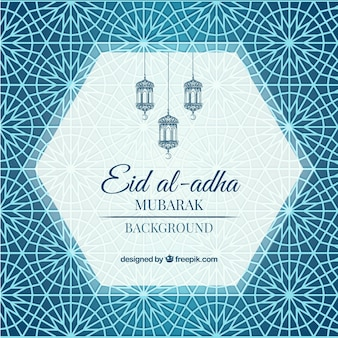 Ornamental abstract background of eid al-adha