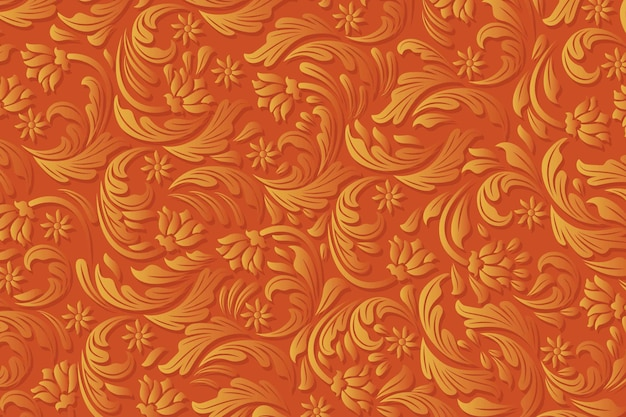 Ornamental abstract floral background