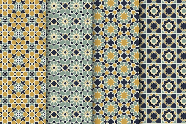 Ornamental arabic pattern collection