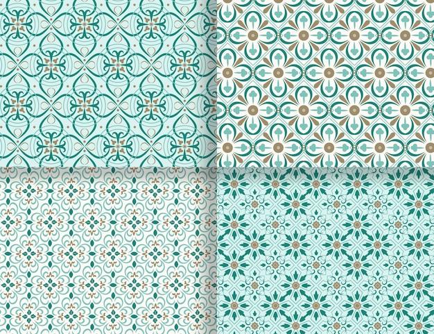 Ornamental arabic pattern collection
