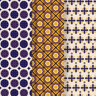 Коллекция декоративных арабских узоров