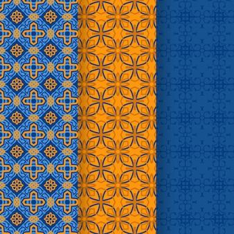 장식용 아랍어 패턴 컬렉션 무료 벡터