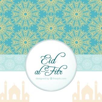 Sfondo ornamentale di eid al-fitr con forme astratte
