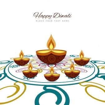 Ornamental background of happy diwali