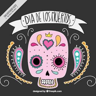 死者のメキシコ頭蓋骨の日の装飾用の背景