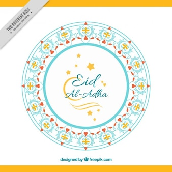 Ornamental background shape of eid al-adha