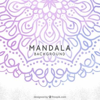 Ornamental background of watercolor mandala