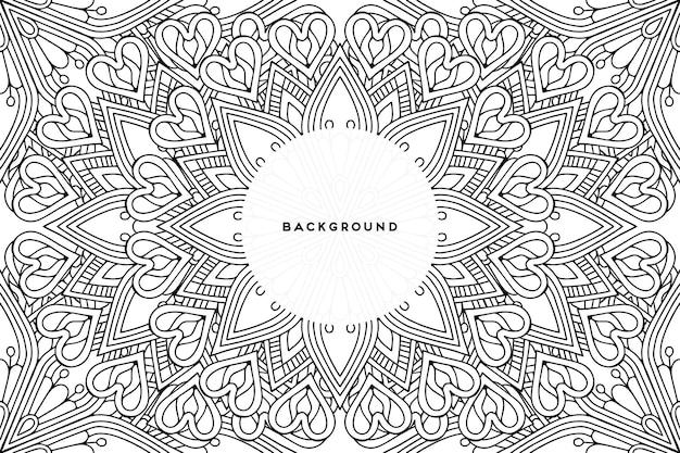 Декоративный фон с геометрическим круговым дизайном