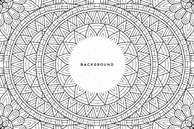 幾何学的な円形デザインの装飾的な背景