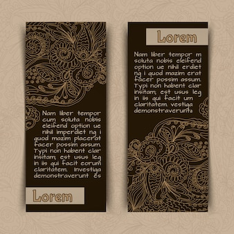 Ornamental banners template vertical