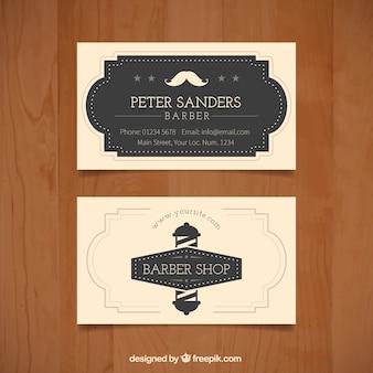 Ornamental barber shop card in vintage style