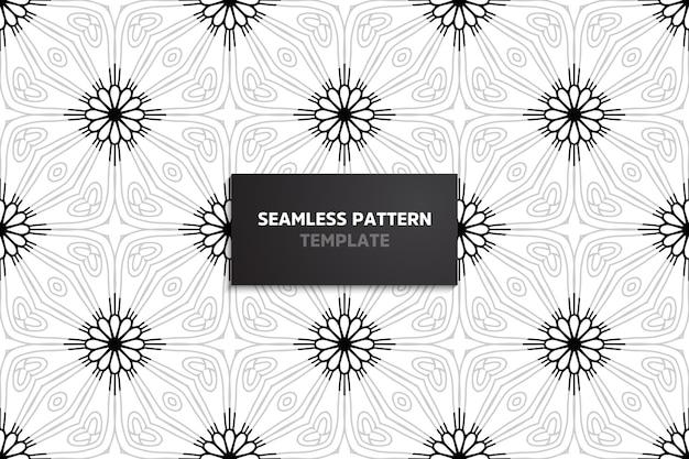 マンダラと装飾用の美しいシームレスパターン。