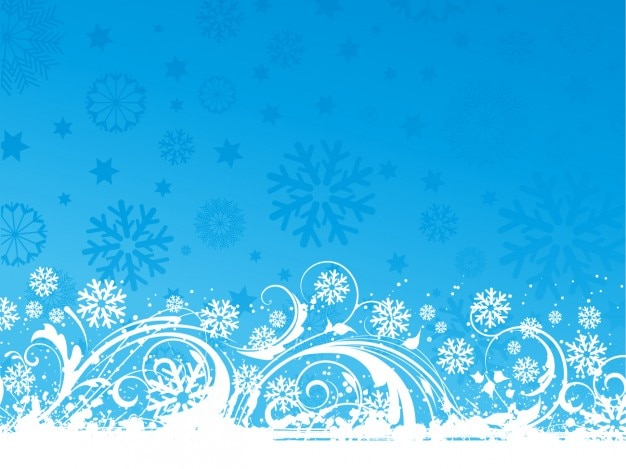 Ornamentali sfondo blu natale
