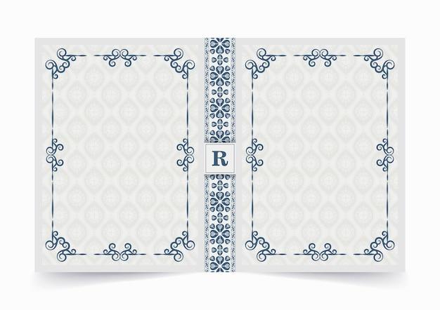 装飾的な本の表紙のデザイン