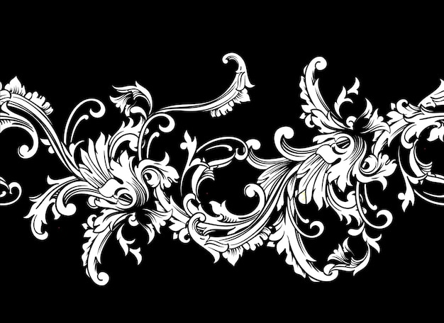 Ornamental border, frame. baroque pattern