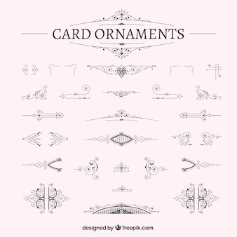 Ornamental card decoration