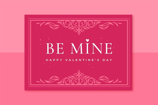 Ornamental card valentine's day template