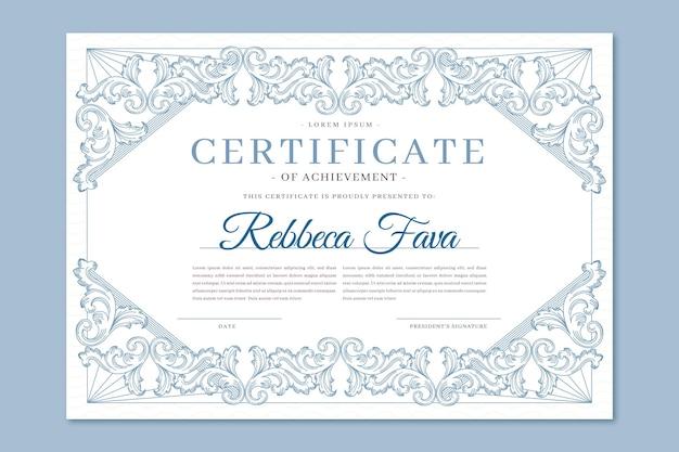 Ornamental certificate of achievement
