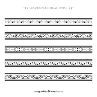 Ornamental certificate border collection