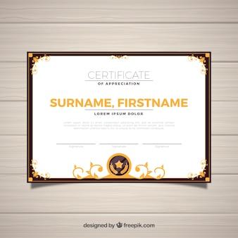 Ornamental certificate border template