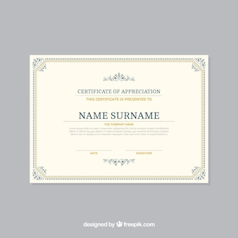 Ornamental certificate border template