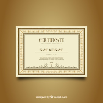 Ornamental certificate border with vintage style
